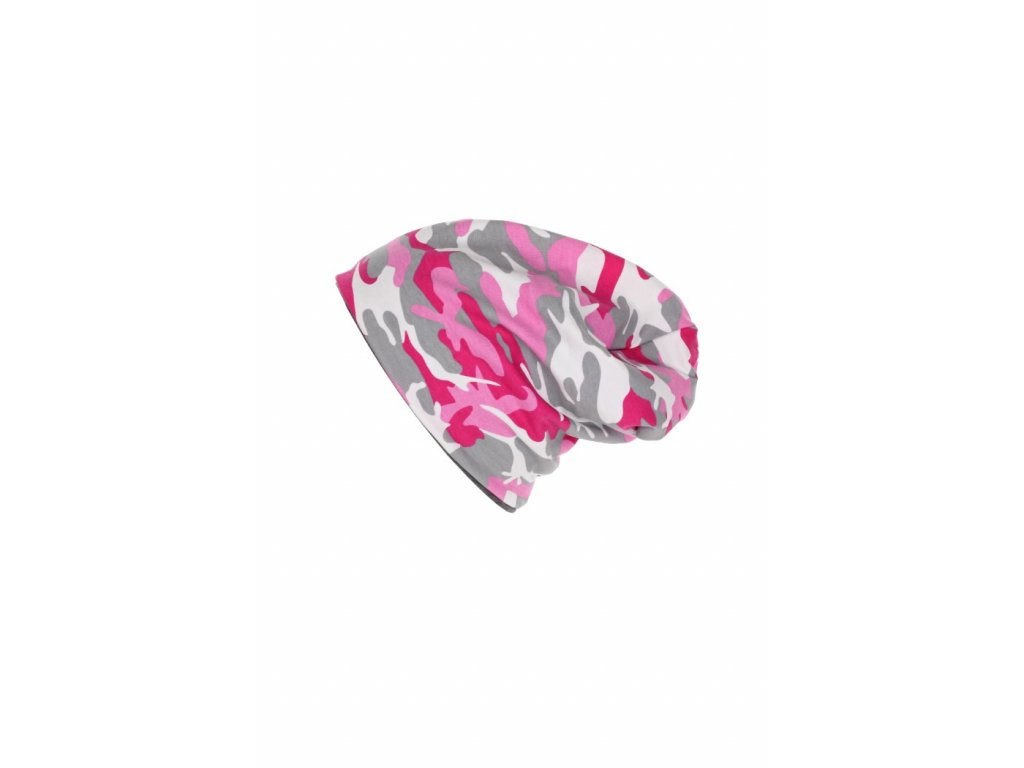 Dětská dvouvrstvá čepice Růžový maskáč