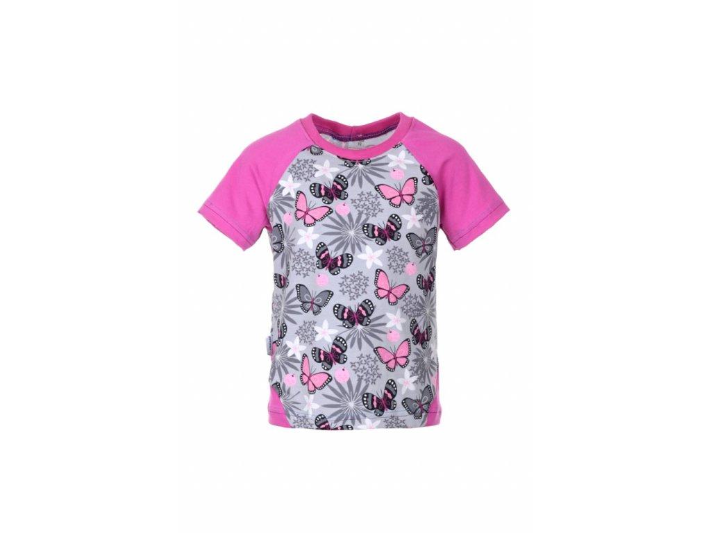 Tričko Růžoví motýlci