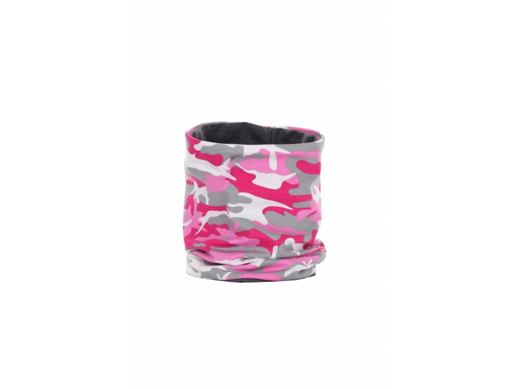 Dvouvrstvý nákrčník Růžový maskáč