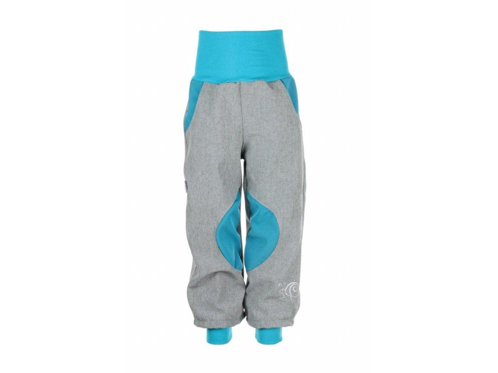 Zateplené softshellové kalhoty Šedo-modré