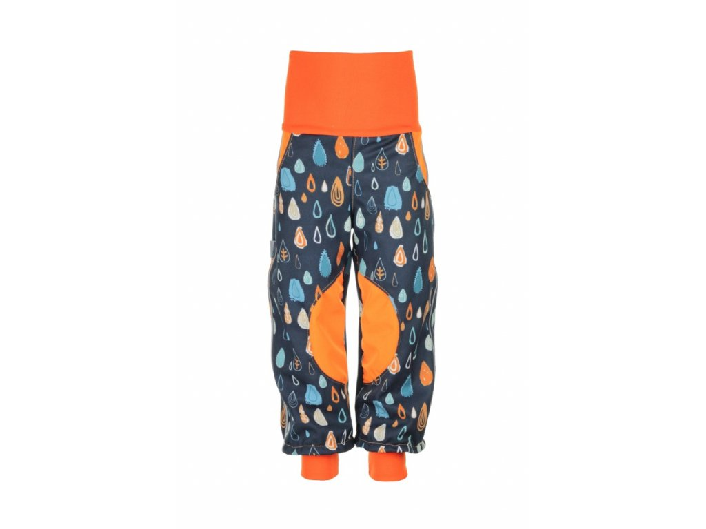 Zateplené softshellové kalhoty Bláznivé kapky