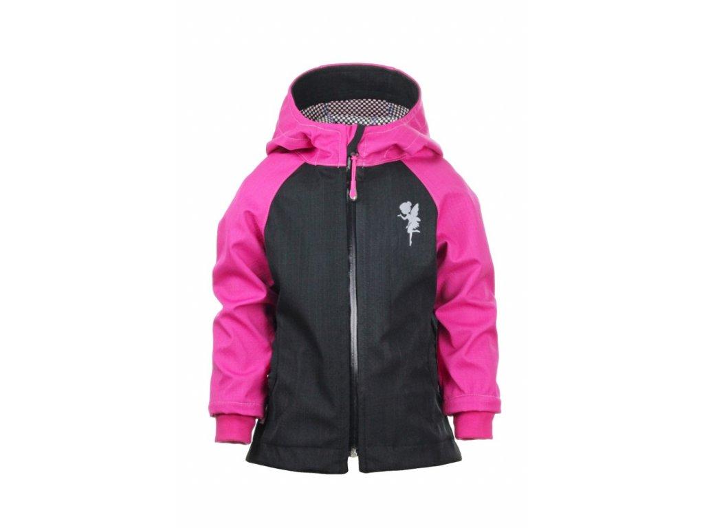 Nepromokavá softshellová bunda Růžová