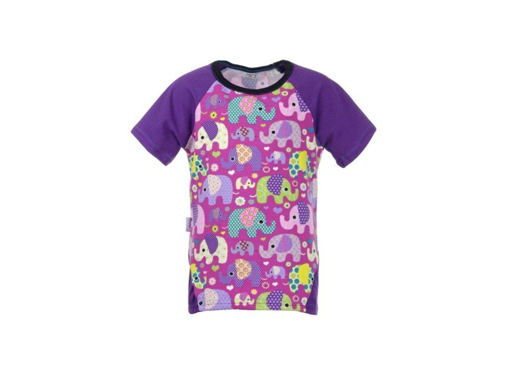 Dětské tričko s krátkým rukávem Sloni