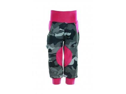 Zateplené softshellové kalhoty Maskáč holky