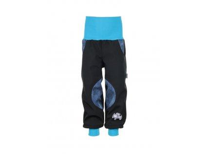 Zateplené softshellové kalhoty Modrý jeans