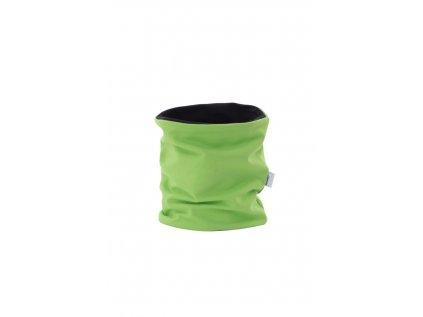 Dětský dvouvrstvý nákrčník Zelený