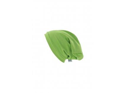 Dětská jednovrstvá čepice Zelená