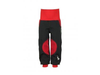 Červené softshellové kalhoty