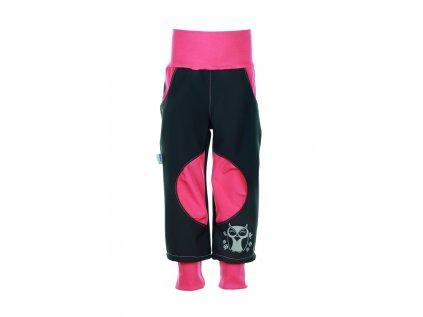 Zateplené softshellové kalhoty Růžové