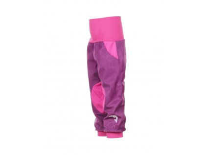 Nepromokavé softshellové kalhoty Fialové