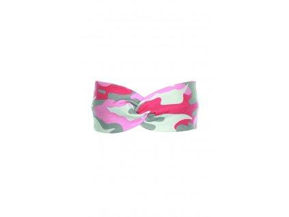 Dětská čelenka Růžový maskáč