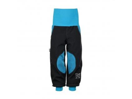 Zateplené softshellové kalhoty Modré