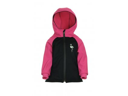 Zateplená softshellová bunda Růžová