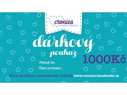 Gift Vouchers Cronies Tyrkys CZ2