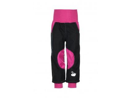 Nepromokavé softshellové kalhoty Růžové