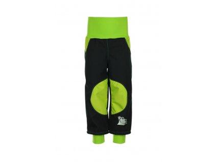 Nepromokavé softshellové kalhoty Zelené