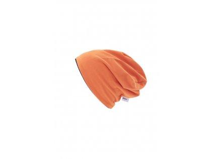 Dětská dvouvrstvá čepice Oranžová