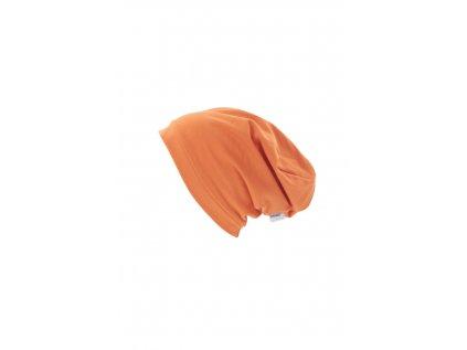 Dětská jednovrstvá čepice Oranžová