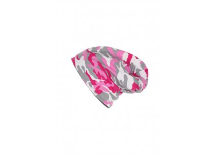 Dvouvrstvá čepice Růžový maskáč