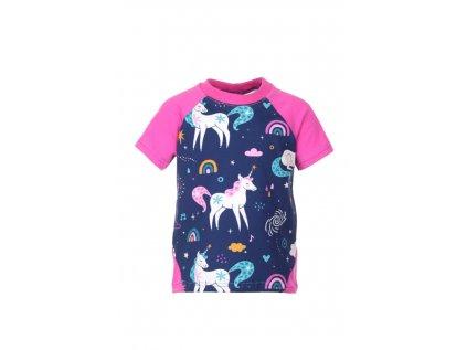 Dětské tričko s krátkým rukávem Jednorožci
