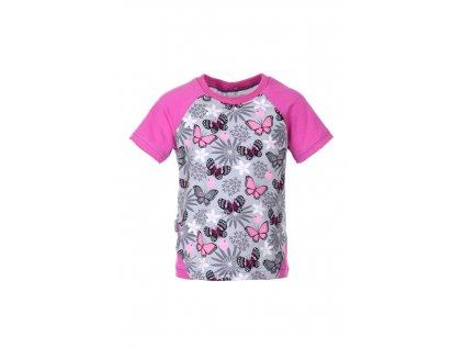 Dětské tričko Růžoví motýlci