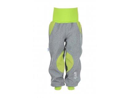 Zateplené softshellové kalhoty Šedo-zelené