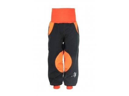 Zateplené softshellové kalhoty Oranžové