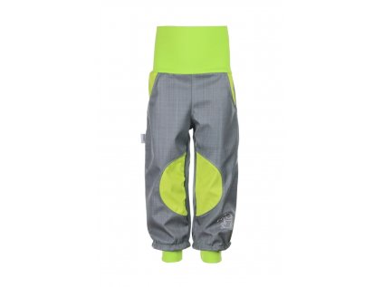 Nepromokavé softshellové kalhoty Šedo-zelené