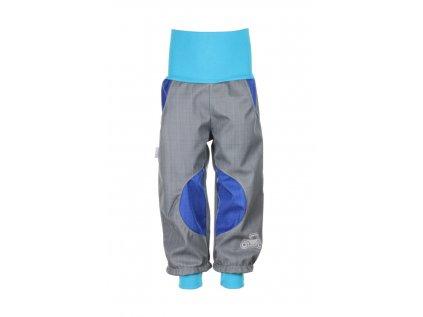 Nepromokavé softshellové kalhoty Šedo-modré