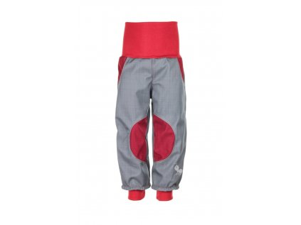 Nepromokavé softshellové kalhoty Šedo-červené