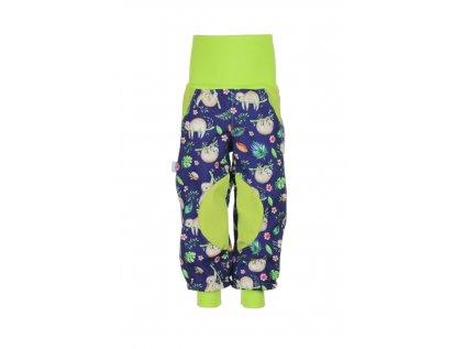 Zateplené softshellové kalhoty Lenochodi