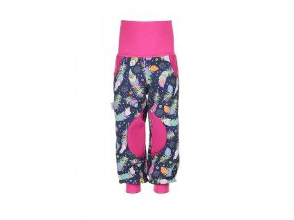 Zateplené softshellové kalhoty Peříčka