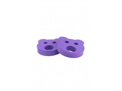 Dětské nadlehčovací kroužky BABY Medvídek fialový