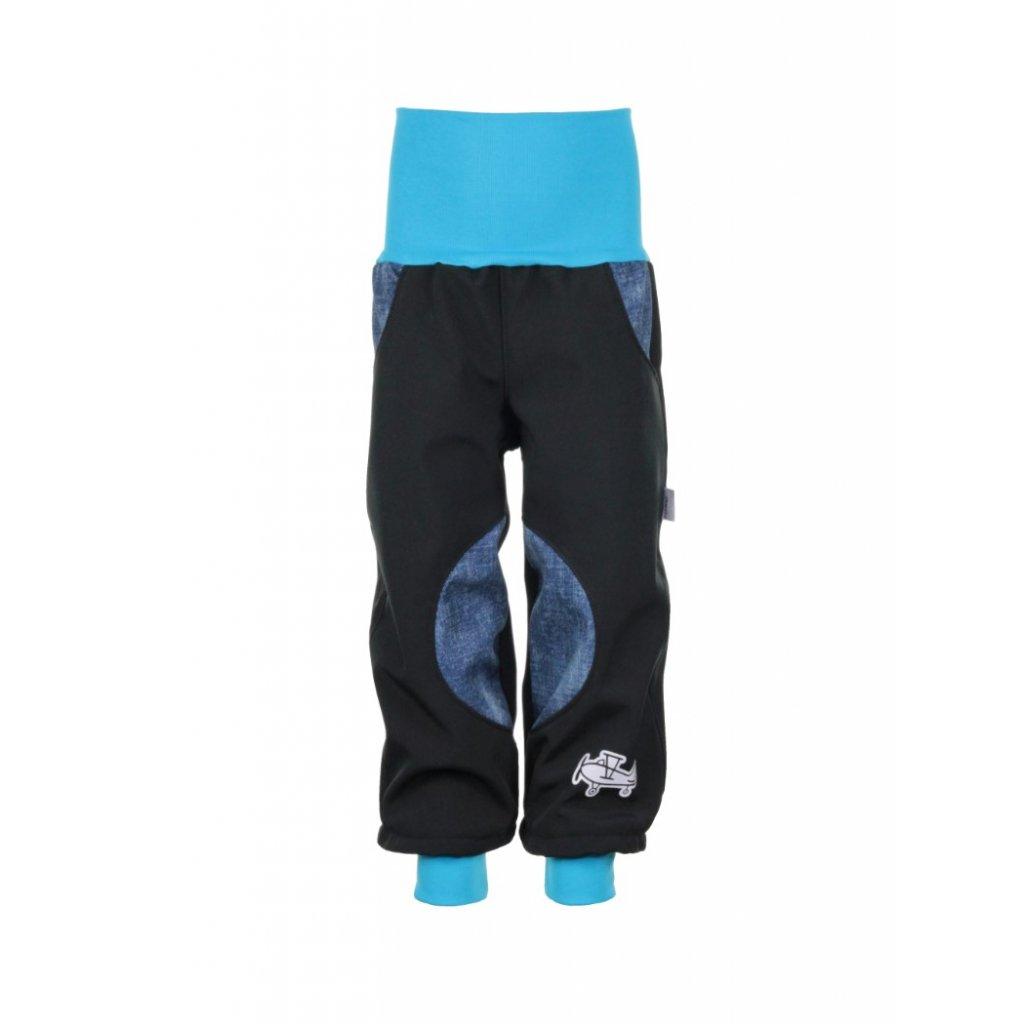 Zateplené softshellové nohavice Modrý jeans