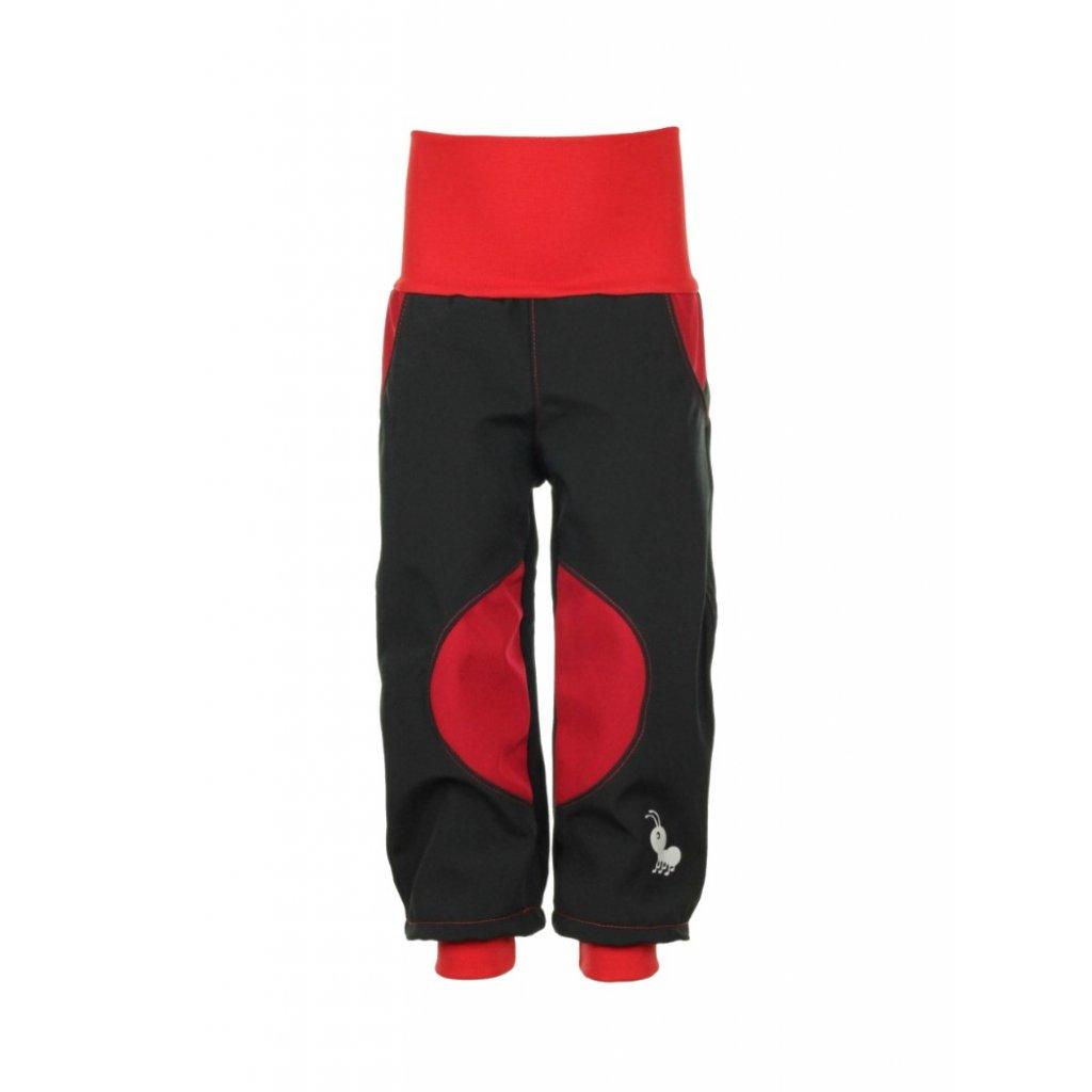 Detské softshellové nohavice Čierno-červené