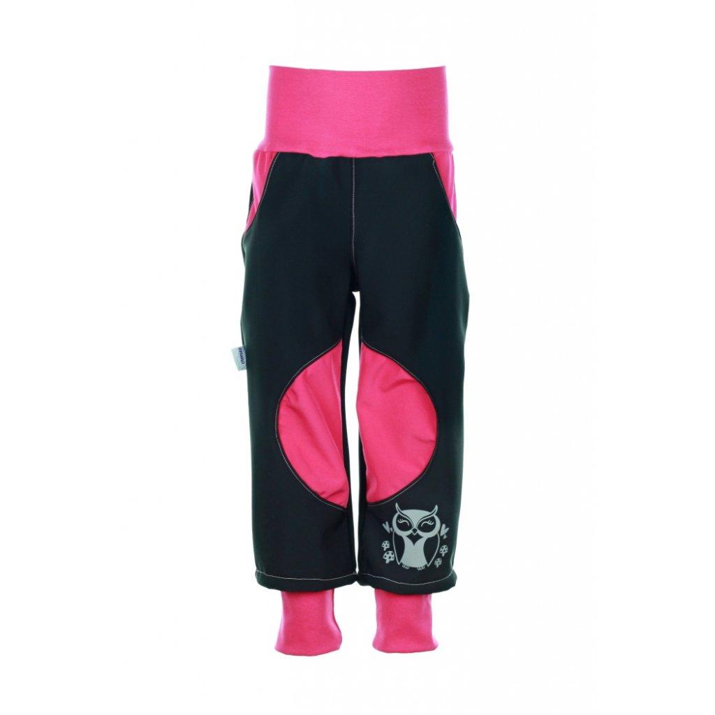 Zateplené softshellové nohavice Ružové