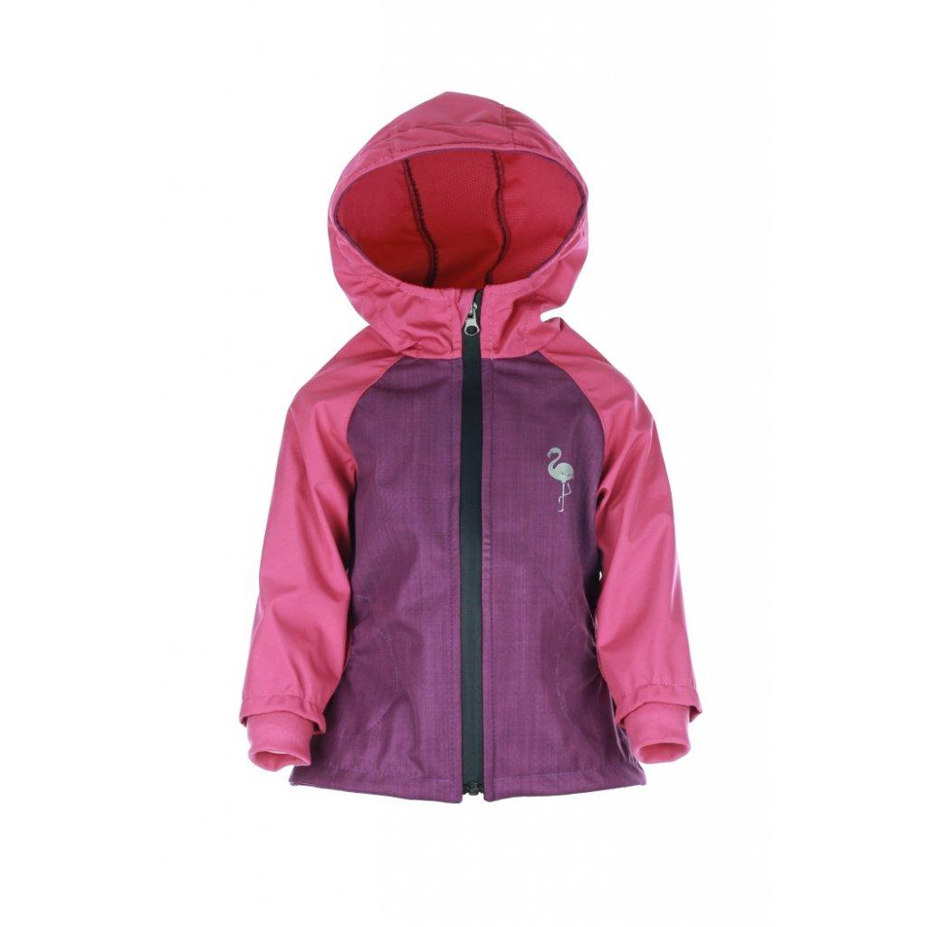 Detská softshellová bunda Fialovo-ružová