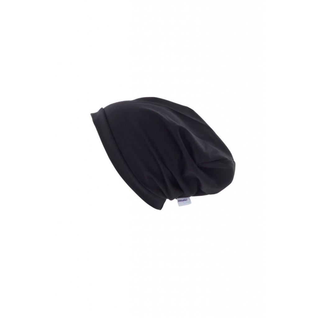 Jednovrstvová čiapka Čierna