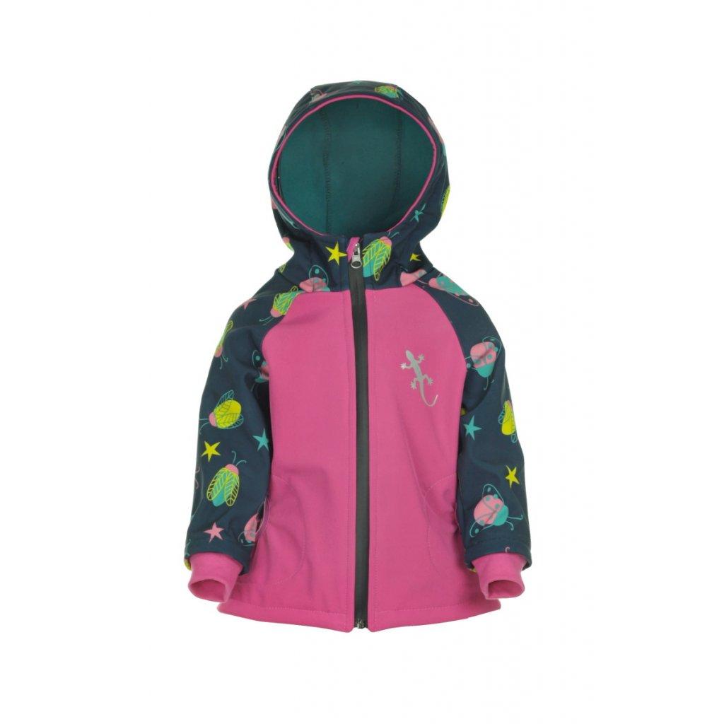 Detská softshellová bunda Chrobáčiky