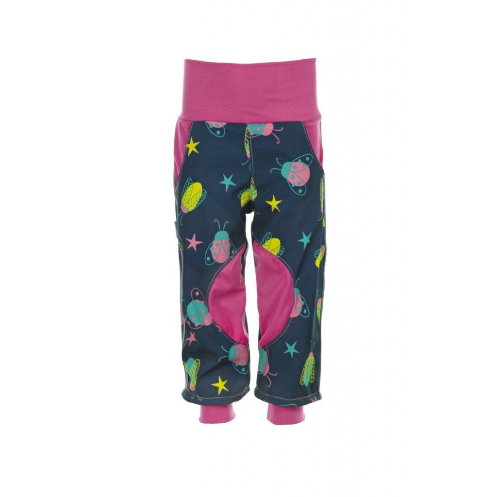 Detské softshellové nohavice Chrobáčiky