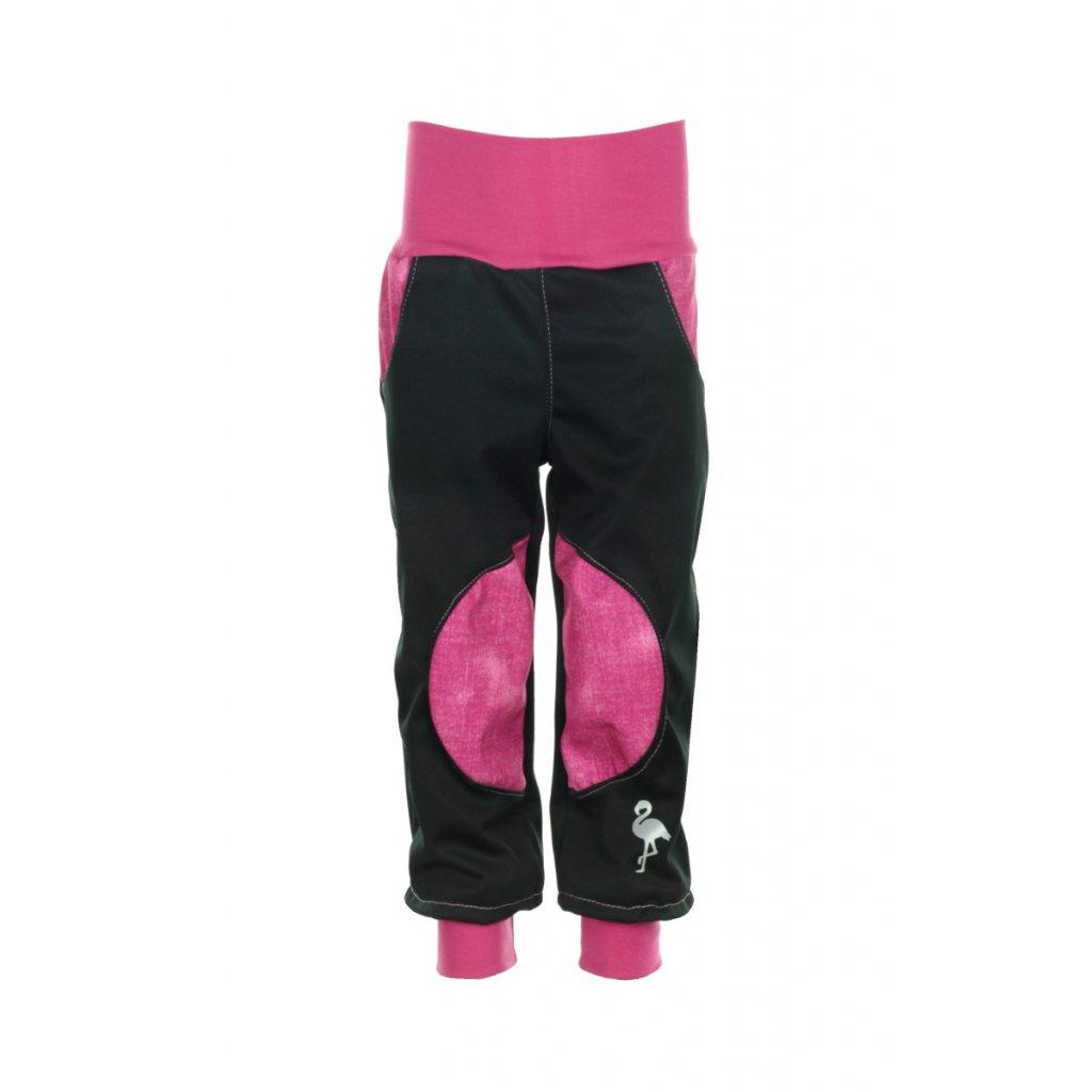 Zateplené softshellové nohavice Ružový jeans