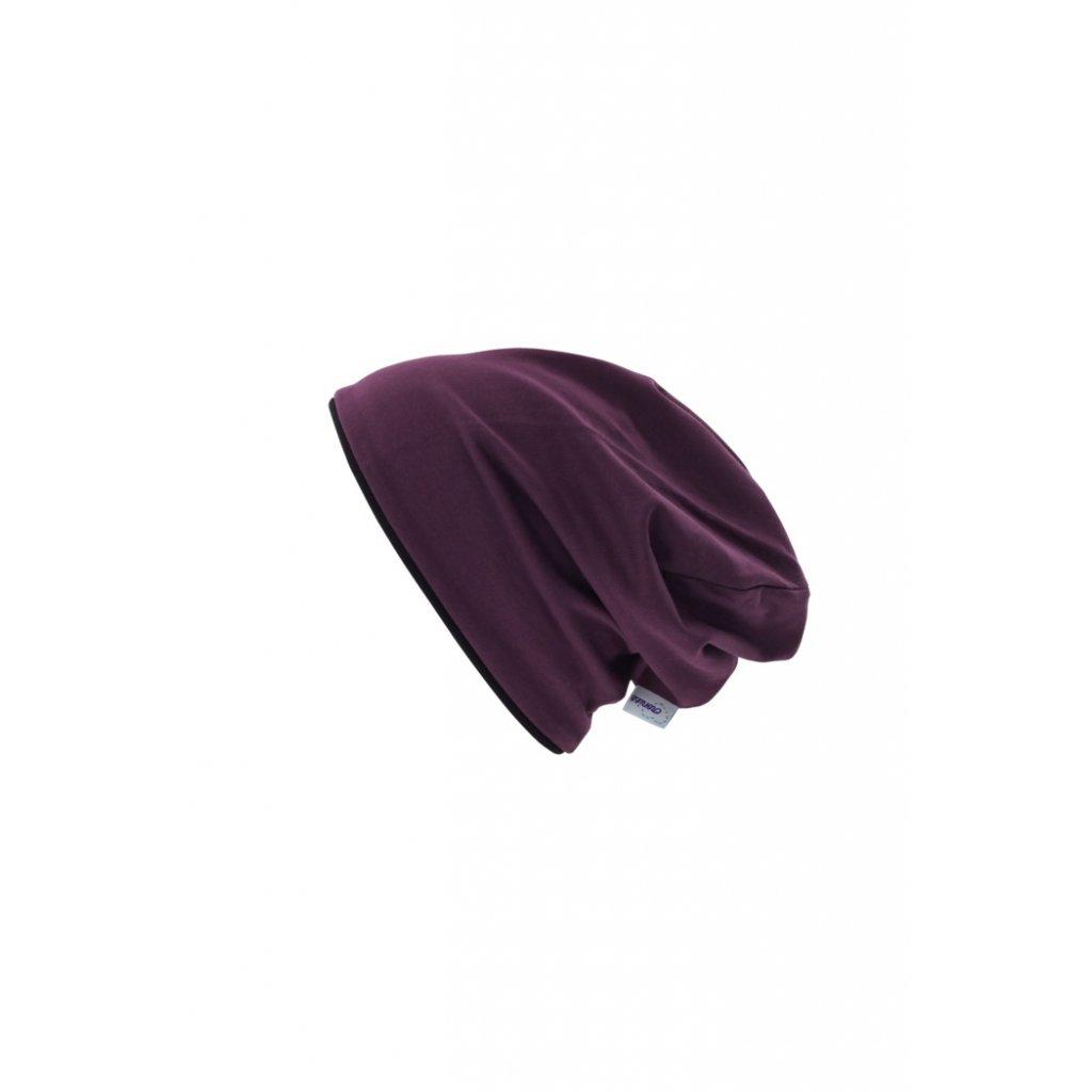 Dvojvrstvová čiapka Bordó