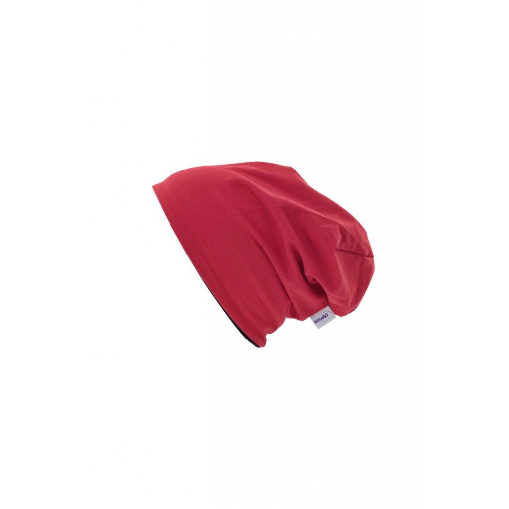 Dvojvrstvová čiapka Červená
