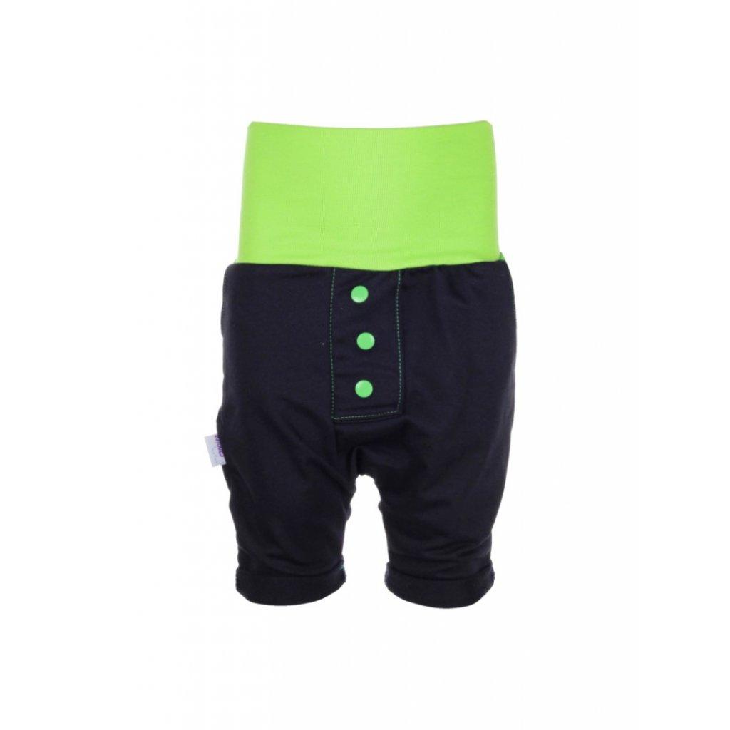 Detské baggy kraťasy Zelené