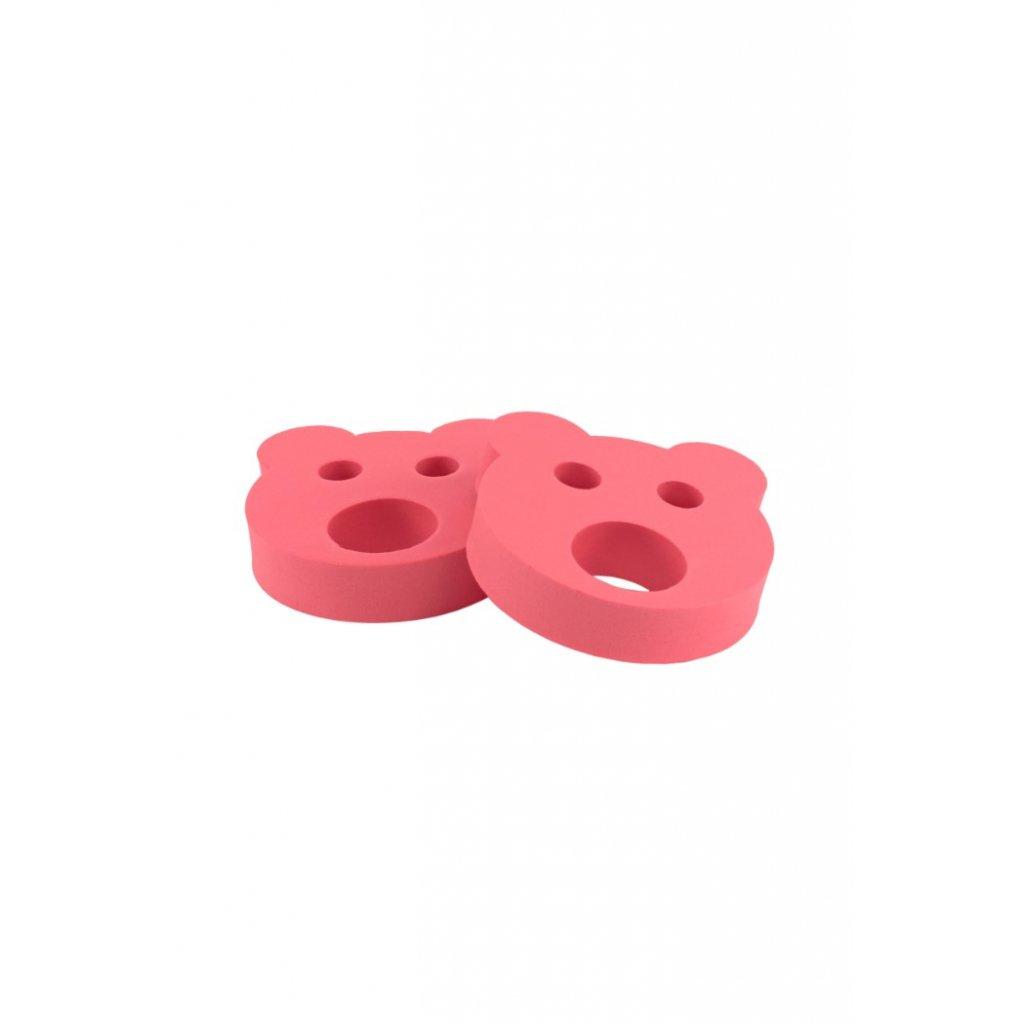 Detské nadľahčovacie krúžky BABY Medvedík červený