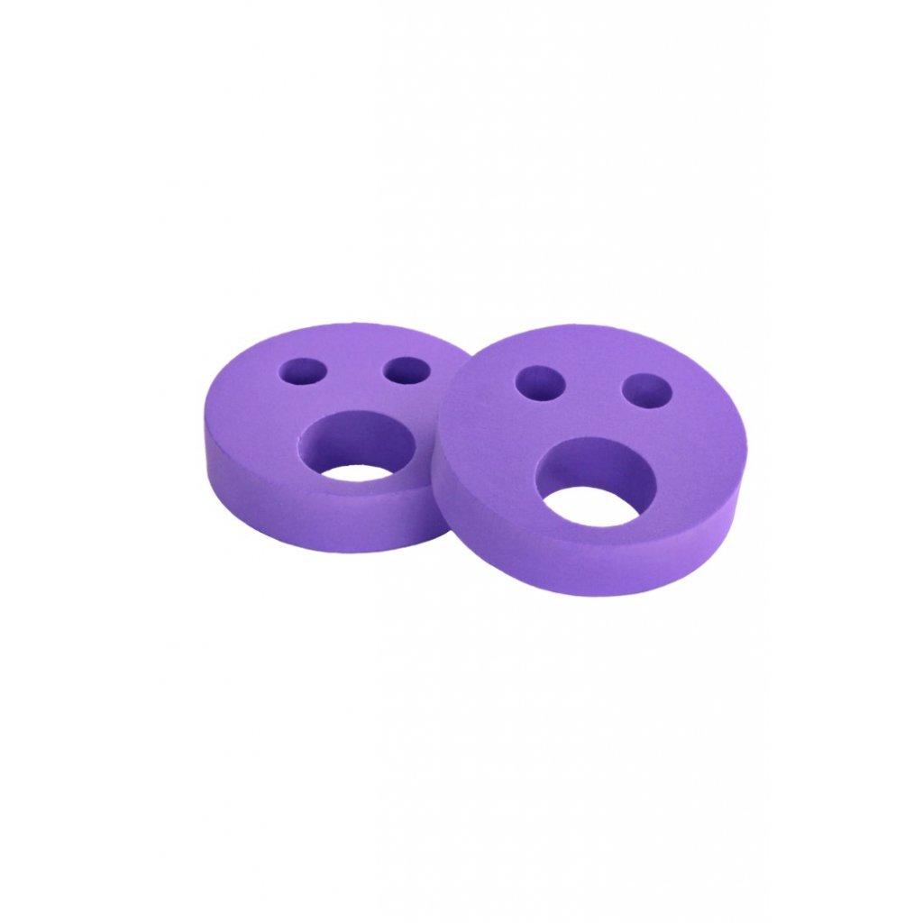 Detské nadľahčovacie krúžky BABY Smajlík fialový