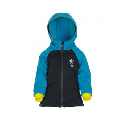 Detská softshellová bunda Čierno-modrá