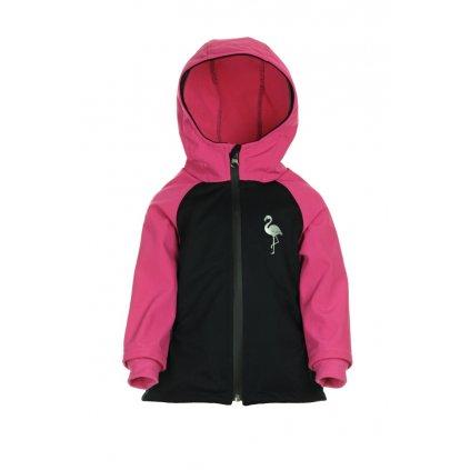 Detská softshellová bunda Čierno-ružová