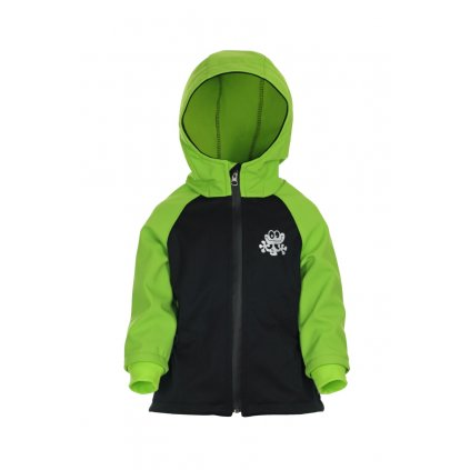 Detská softshellová bunda Čierno-zelená