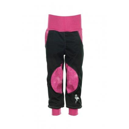 Detské softshellové nohavice Ružový jeans